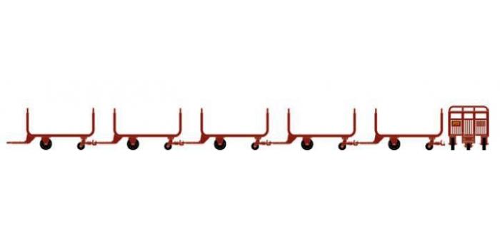 Train électrique : LS MODELS LSM89599 - Set de 5 chariots postaux