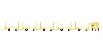 Train électrique : LS MODELS LSM89600 - Set de 5 chariots postaux