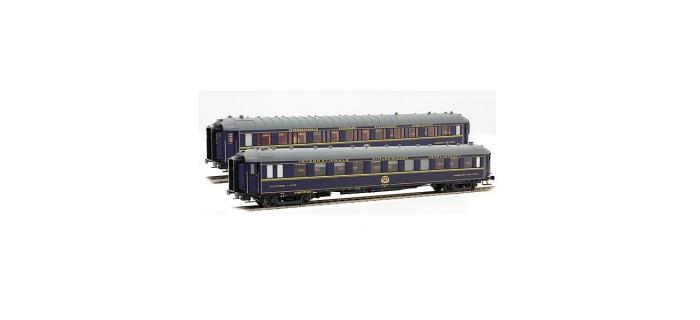 Modélisme ferroviaire : LS Model - LSM99101 - Coffret de 2 voitures livrée bleu 1968 Type S & Y CIWL