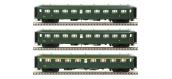Modélisme ferroviaire : LSModel - LSM40188 - Coffret de 3 voitures rapide Nord SNCF