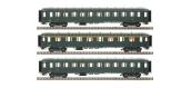 Modélisme ferroviaire : LS Model - MW40380 - Coffret de 3 voitures OCEM faces lisses  A8 B10 B10, SNCF