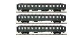 Modélisme ferroviaire : LS Model - LSM40398 - Coffret de 3 voitures OCEM faces lisses B10 Ep.IIIcd
