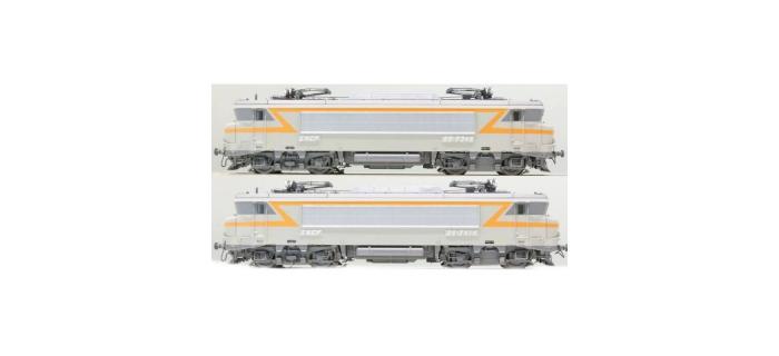 Modélisme ferroviaire : LS MODELS 10450S - Coffret de 2 locomotives électrique BB 7346 / BB 7414 livrée grise et bande orange avec plaques sonore