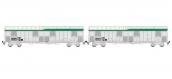 Modélisme ferroviaire : LSMODEL LSMMW1611 - Coffret de 2 wagons Gahkkss 12-6 UIC