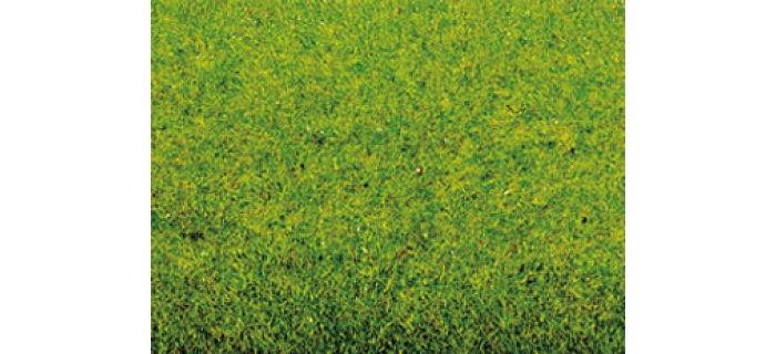 Modélisme ferroviaire : NOCH - Tapis d'herbes, gazon printanier (vert moyen)