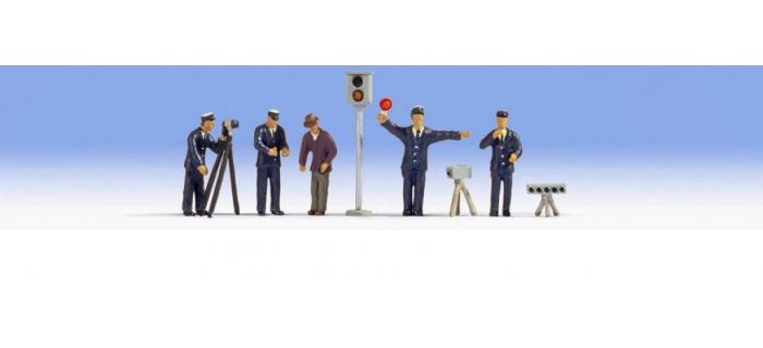 Train électrique : NOCH NO 15100 - Policiers avec équipement de radar