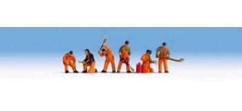 Train électrique : Agents d'entretien de voies