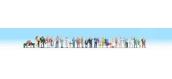 Train électrique : NOCH NO 16043 - Mega set de 30 personnages en ville