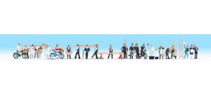 Train électrique : NOCH NO 16047 - Set de 24 personnages au travail
