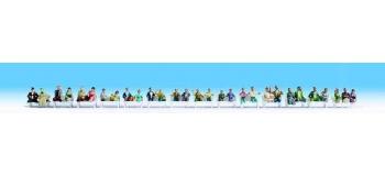 Train électrique : NOCH NO 16050 - Set de 30 voyageurs sans pieds