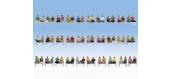 Modélisme ferroviaire : NOCH NO 16072 - Méga-Set économique « Passagers assis », 60 figurines (sans jambes, sans bancs)
