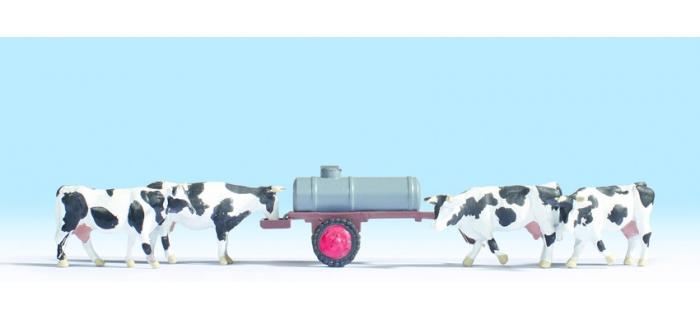 Modélisme ferroviaire : NOCH NO 16658 - Figurine vaches et abreuvoirs