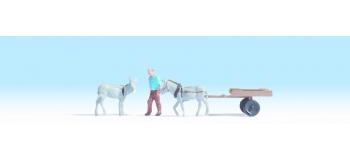 Modélisme ferroviaire : NOCH NO 16664 - Charrette à âne
