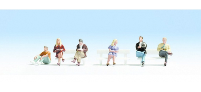 NO 36535 - Gens assis 6 figurines, sans bancs - Noch