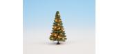 Modélisme ferroviaire : NOCH NO 22121 - Sapin de Noël illuminé, vert, avec 20 LEDs, 8 cm de haut