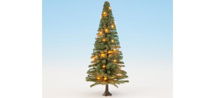 Modélisme ferroviaire : NOCH NO 22131 -Sapin de Noël illuminé, vert, avec 30 LEDs, 12 cm de haut