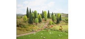 Modélisme ferroviaire : NOCH NO 26911 -10 arbres forêt mixte