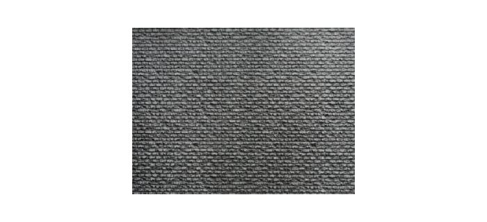 Train électrique : NOCH NO 55830 - Mur de pierre en feuille de texture ABS