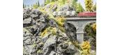 Modélisme ferroviaire : NOCH NO 58462 - Plaque rocheuse Basalte