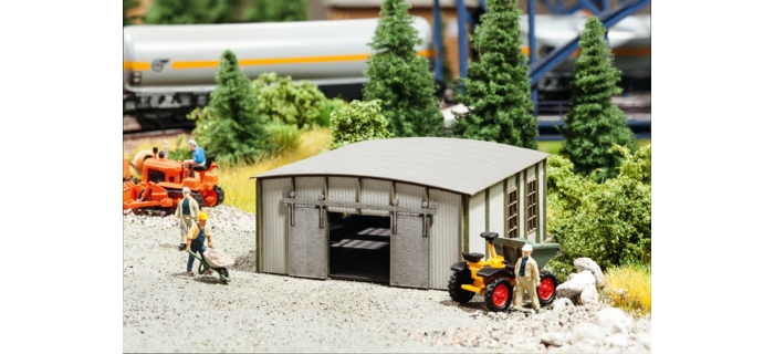Modélisme ferroviaire : NOCH NO 66107 - Hangar en tôle ondulée