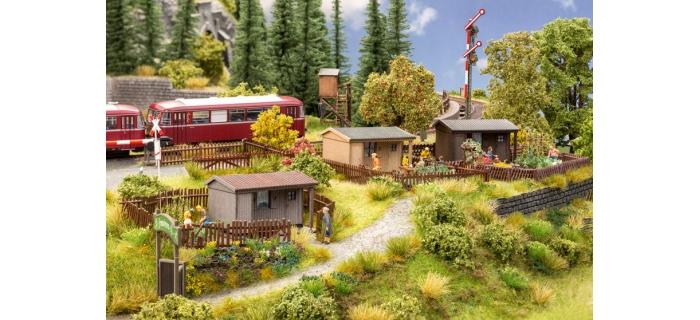 Modélisme ferroviaire : NOCH NO 66803 - Chalets pour jardin d'ouvriers