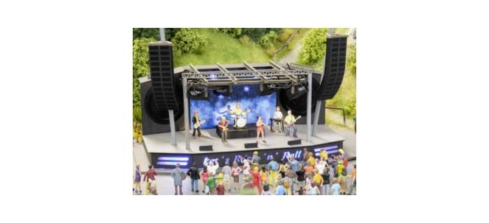 Modélisme ferroviaire : NOCH NO 66823 - Scène de concert - festival de rock micro-motion