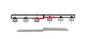 Modélisme ferroviaire : PIKO P55294 - Eclisses adaptation code 83 (6p)