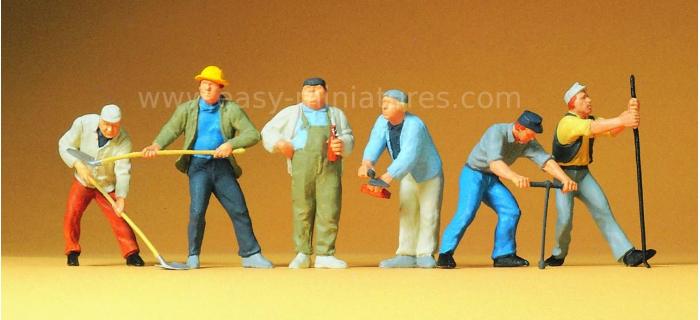 PR65331 - Ouvriers du batiment - Preiser