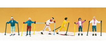 PR10312 - Skieurs de ski de fond - Preiser