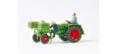 PR17935 - Tracteur  PR PLANTATION DE PDT+3 FIGURINES - Preiser