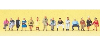 PR79199 - Passagers assis, 14 figurines - Preiser
