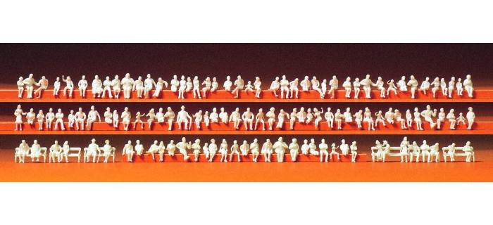 PR79007 - 120 figurines assises à peindres - Preiser