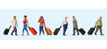 PR10640 - Voyageurs avec leurs valises à roulettes - Preiser
