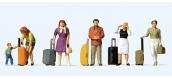 PR10641 - voyageurs avec valises à roulettes - Preiser