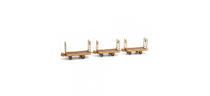 Train électrique :  ARTITEC ARTDE012 - Set 3 chariots à bagages