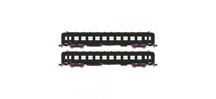 Modélisme ferroviaire :  REE NW-065 -Coffret de d voitures DEV AO Courtes Ep.III B