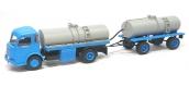 Train électrique : REE CB-100 - Panhard Movic Citerne à Vin + Remorque (Bleu et Gris)