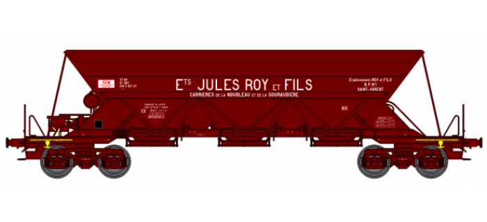 """WB-115 - Wagon trémie EX T1, """"Ets JULES ROY ET FILS"""" - REE Modeles"""
