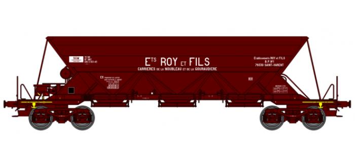 """WB-116 - Wagon trémie EX T1, """"Ets ROY ET FILS"""" - REE Modeles"""