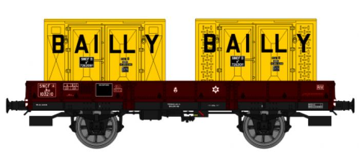 WB-126 - Wagon plat OCEM 29, Bailly - REE Modeles