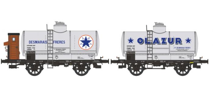 WB-155 - Set 2 wagons citernes OCEM 19 AZUR, ETAT - REE Modeles