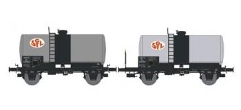 NW-001 - SET de 2 Wagons Citernes Soudée OCEM 29 Ep.III