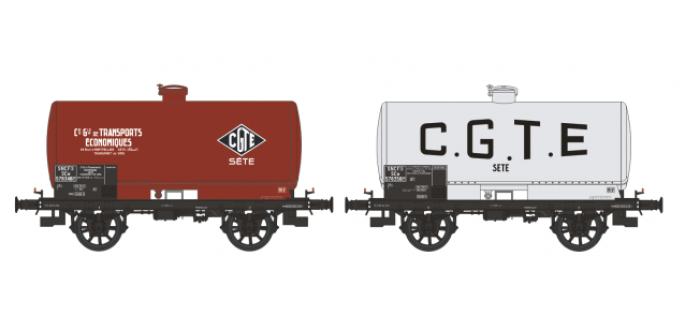 WB-197 - Set de 2 wagons citernes OCEM 19