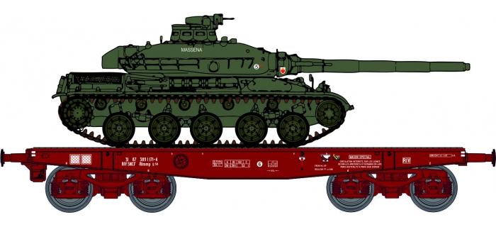 WBA-025 - Wagon Porte-char Rlmmp + Char AMX 30B