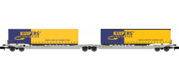 NW-181 - Wagon Porte-Remorque double, KUIJPERS Logistic - REE Modeles
