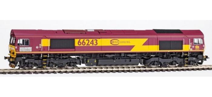 REE MBE-002 - Class 66 Euro Gargo Rail N° 66072 ECR, DCC Sonorisée - Echappement Fumée - Power Pack