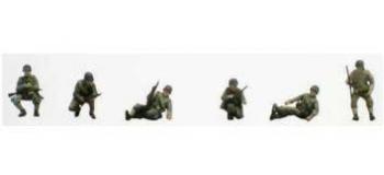 Train électrique : REE AB-012 - Groupe de Combat assis/accroupis char 2 DB - 6 soldats