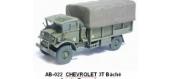 Train électrique : REE AB-022 - Véhicule militaire Chevrolet 3T baché Armée Française (guerre d'Algérie 54-62)