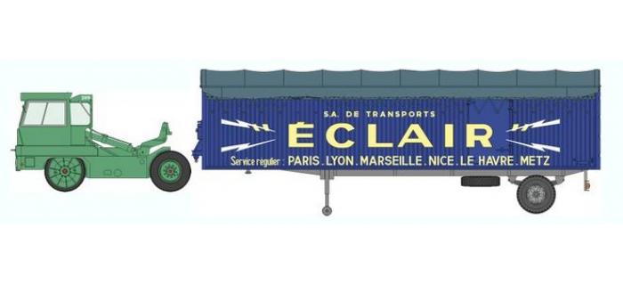 Train électrique : REE CB-022 - Tracteur KANGOUROU Vert + Remorque