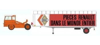 Train électrique : REE CB-024 - Tracteur KANGOUROU Orange + Remorque